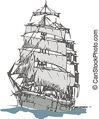 sailboat - old sailboat