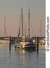 Old sailing boat - Old wooden sailing boat.