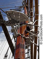 Old sailing ship