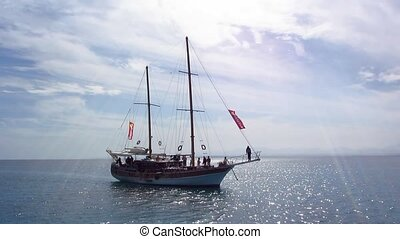 Old Sailing Ship - Old Sailing ship replica, takes tourists...