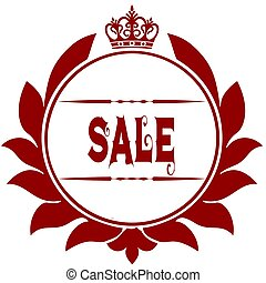 Old SALE red seal.