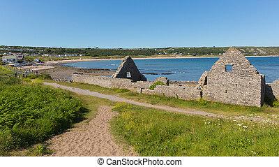 Old salt house ruins Port Eynon