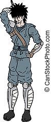Old samurai - Creative design of old samurai