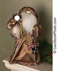 old santa ornament