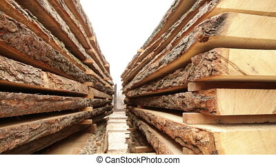 old sawmill timber board video