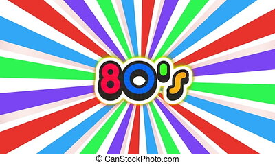 Old School 80s Vintage Motion Graphic Background