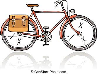 Old School Bicycle Sketch