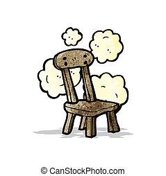 old school chair cartoon