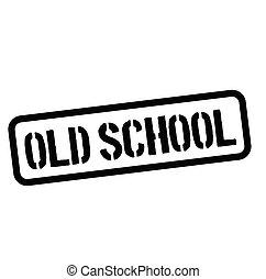 old school rubber stamp black. Sign, label sticker