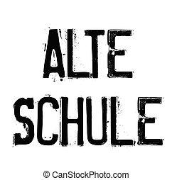old school stamp in german - old school black stamp in...