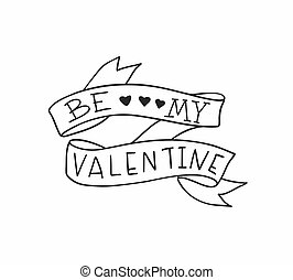 Old school tattoo design for Valentines day. Vector illustration.
