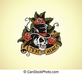 Old School Tattoo Skull