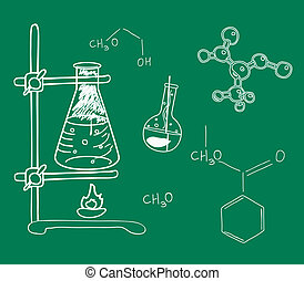 Old science and chemistry laborator