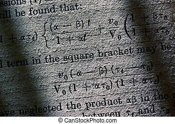 Close up of grunge Science book