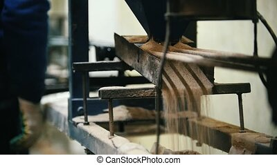 Old scratched rotated mechanism for producing of fiberglass...