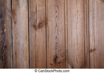 Old scratched wooden table background top view