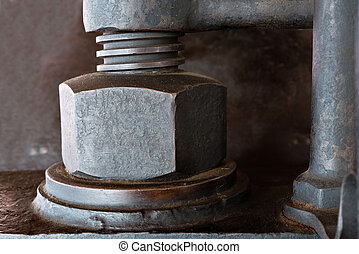Old Screw - detail of a old used rusty screw