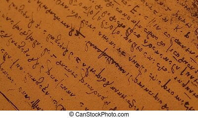 old scripts written in medieval times