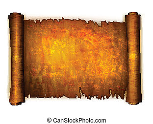 Old scroll paper isolated on white background. Vector ...