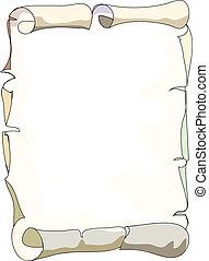 scroll - Old scroll paper