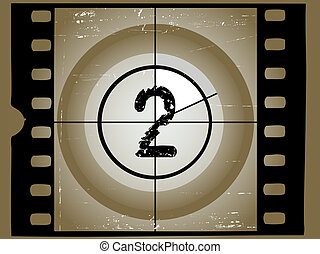 Old Sctratched Film Countdown - At 2 - Old Scratched Film...