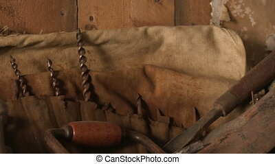 Old sculpting tools - A medium shot of old and rusty...