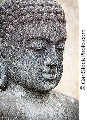 Old Sculpture - Buddha's face