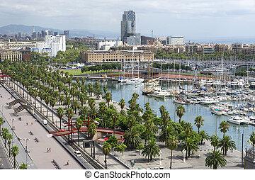 Old Sea Port in the Barcelona
