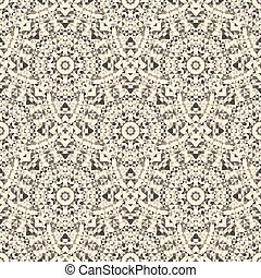 Old Seamless Pattern. Abstract Geometrical Ornamental Vector Bac