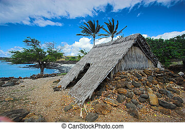Old settlement - Ancient wooden temple and settlement in...