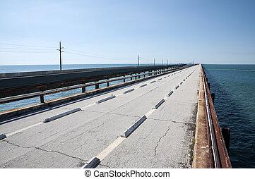 Old seven mile bridge in Florida Keys