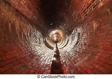 Old sewage treatment plant - Underground old sewage...
