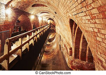 Old sewage treatment plant - Underground old sewage...
