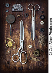 old sewing tools