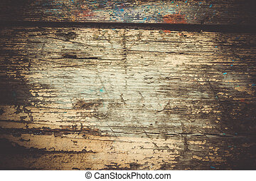old shabby wooden surface close up