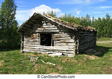 Old shed for hay storage