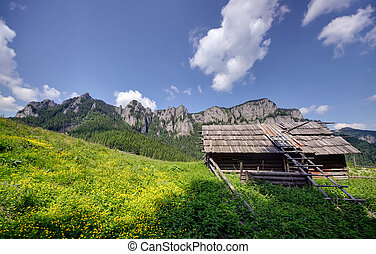 old sheepfold in mountains