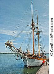 old ship at the marina