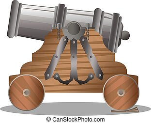 Old ship cannon