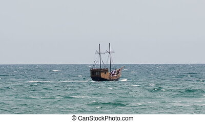 Old Ship in the Sea