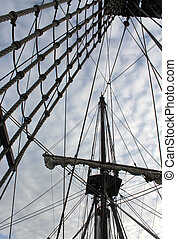old ship photo detail
