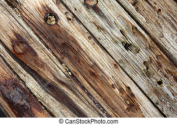 old shipboards - planks from an old wrecked ship with rusty ...