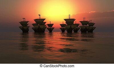 old ships fleet 4k