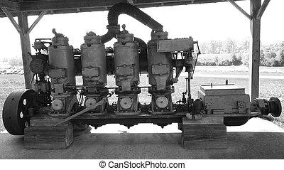 Old ships piston Engine.