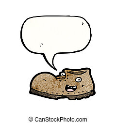 old shoe cartoon