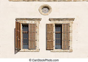 old shuttered window in jerusalem israel