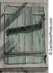 Old shutters in Guadeloupe