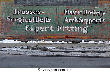 Old sign on building