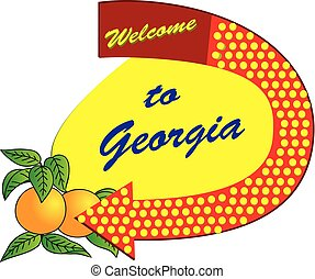 Old sign Welcome to Georgia