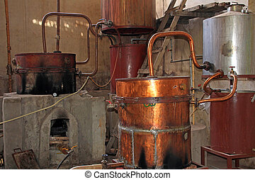 Old Singani distillery in Camargo Bolivia, the distillery...